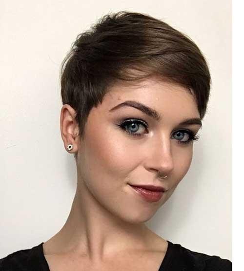 Chestnut Brown Pixie Hair