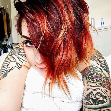 Short-Haircut-Woman-2018 Short Red Hair Color Ideas