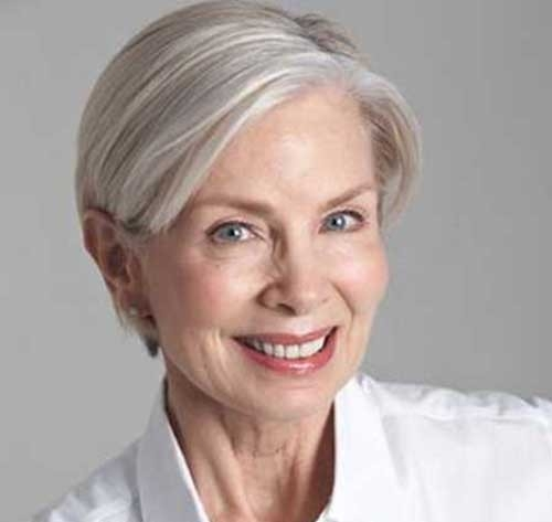 Short Haircut for Older Women with Straight Hair