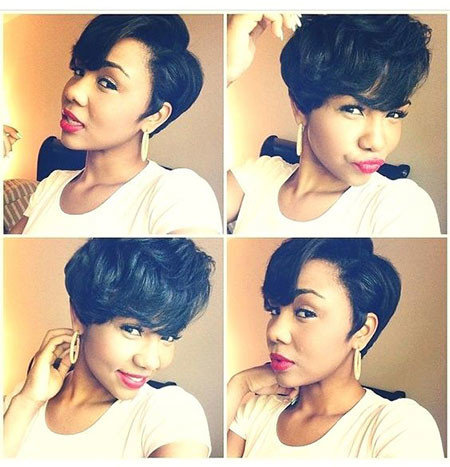 61-Short-Pixie-Hairstyles-for-Black-Women Best Short Pixie Hairstyles for Black Women 2018 – 2019