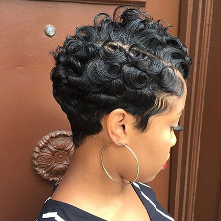 68-Short-Pixie-Hairstyles-for-Black-Women Best Short Pixie Hairstyles for Black Women 2018 – 2019