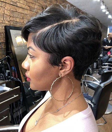 Black-Pixie-Cut Best Short Pixie Hairstyles for Black Women 2018 – 2019