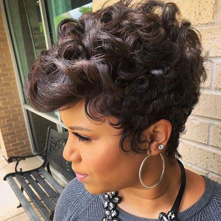 Curly-Pixie-Hair Best Short Hairstyles for Black Women 2018 – 2019