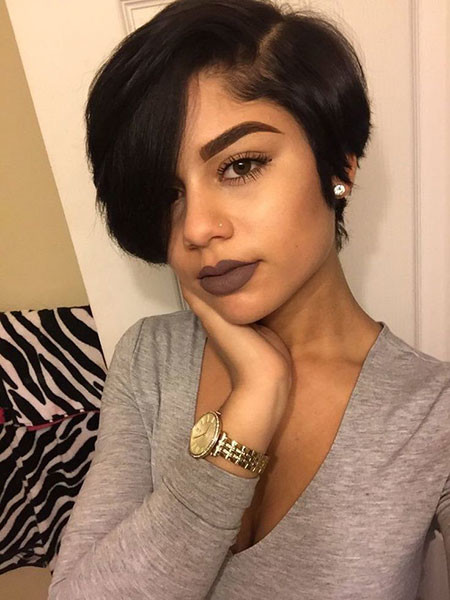 Cute-Short-Hairstyles-On-Black-Woman Best Short Hairstyles for Black Women 2018 – 2019