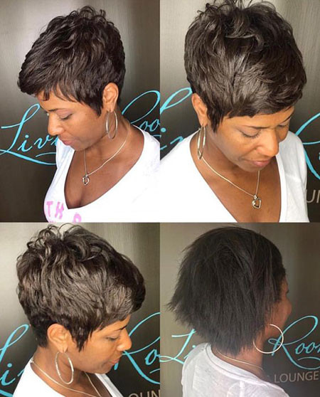 Layered-Haircut Best Short Pixie Hairstyles for Black Women 2018 – 2019
