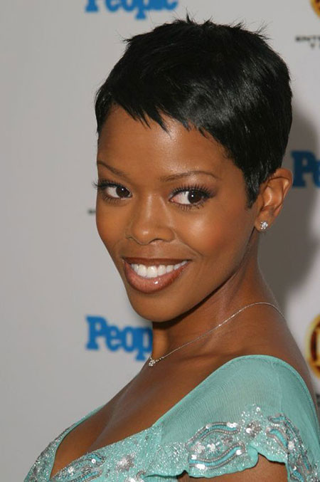 Malinda-Williams-Short-Pixie-Hair Best Short Pixie Hairstyles for Black Women 2018 – 2019
