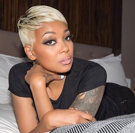 Short-Blonde-Hairstyles-for-Black-Women-2019 Best Short Pixie Hairstyles for Black Women 2018 – 2019