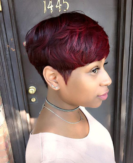 Short-Mushroom-Cut Best Short Pixie Hairstyles for Black Women 2018 – 2019