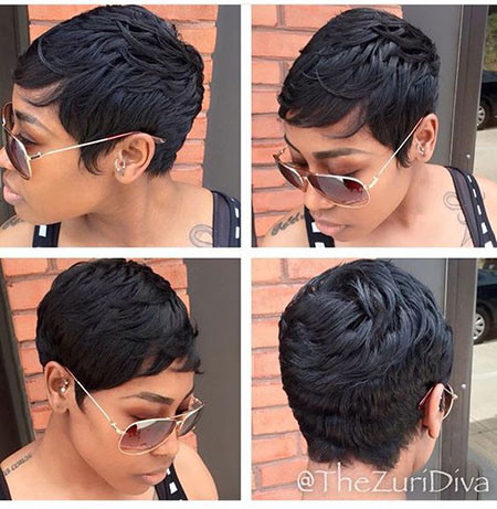 Short-Pixie-Wigs-Black-Hair Best Short Pixie Hairstyles for Black Women 2018 – 2019