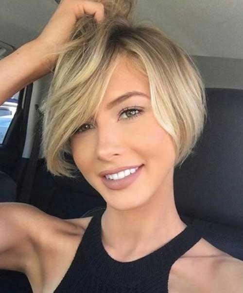 2018-Cute-Short-Hair-for-Round-Faces