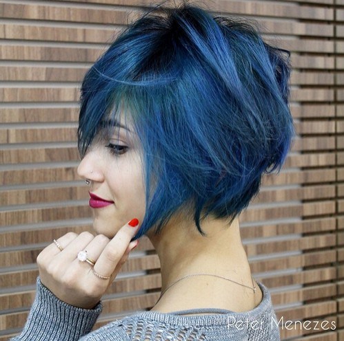 Blue-Colored-Bob-Hairstyle