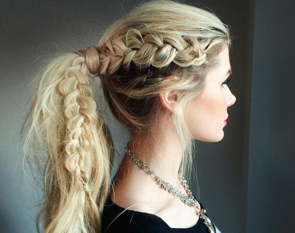 Blonde-Braids-on-Long-Hair