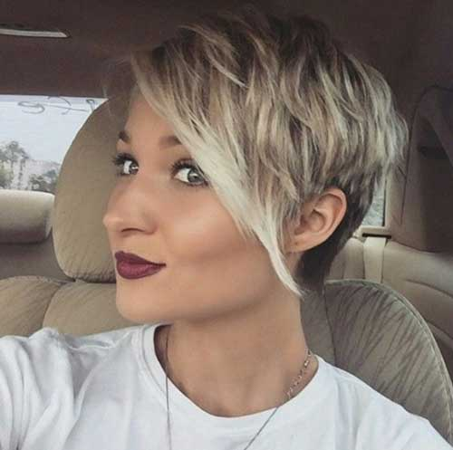 Cute-Girl-Hairstyle-for-Short-Hair-with-Long-Side-Bangs