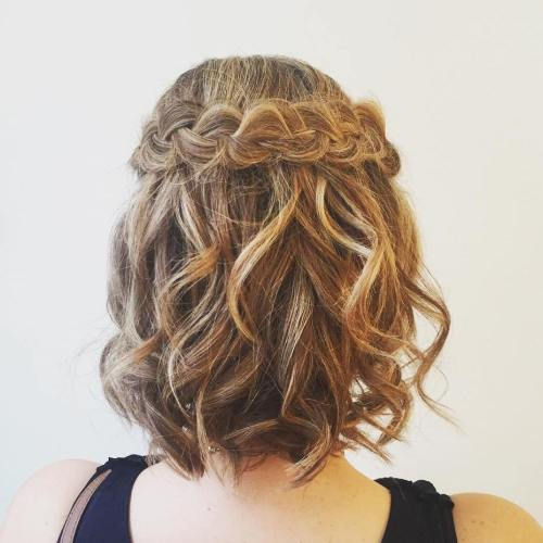 Curled-Hair-with-a-Crown-Braid