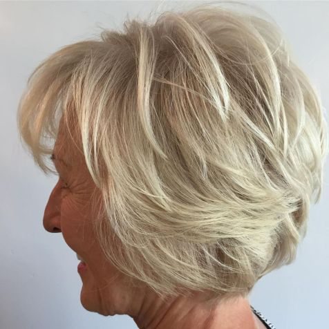Ash-Blonde-Short-Layered-Hairstyle