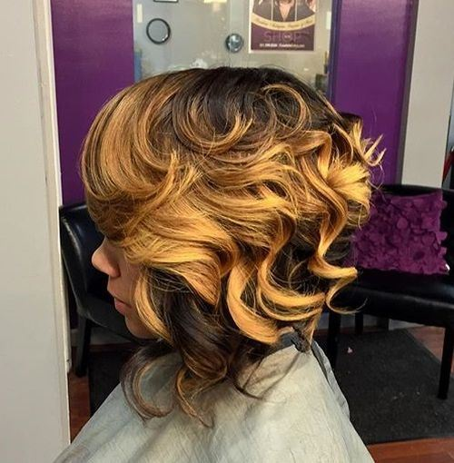 Bold-Balayage-–-African-American-Inverted-Bob-Hairstyle